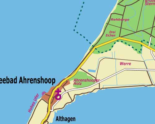 Fischland Darss Zingst Oder An Den Bodden Landkarte Mit Orteliste