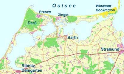 Fischland Darß Zingst Karte.Halbinsel Zingst Landschaft Im Nationalpark Vorpommersche